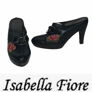 Isabelle Fiore Rose Love Tattoo Chain Heeled Clogs